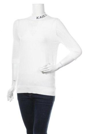 Γυναικείο πουλόβερ Karl Lagerfeld, Μέγεθος M, Χρώμα Λευκό, 83% βισκόζη, 17% πολυεστέρας, Τιμή 83,78€