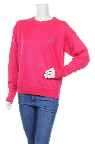 Дамски пуловер Lacoste, Размер M, Цвят Розов, Полиестер, Цена 51,00лв.