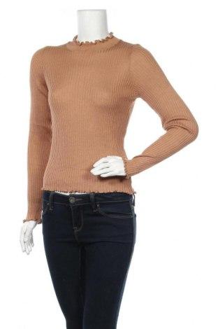 Дамски пуловер Michelle Keegan, Размер XL, Цвят Кафяв, 50% вискоза, 50% акрил, Цена 26,55лв.