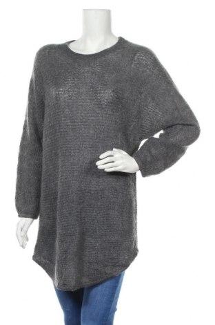 Дамски пуловер Object, Размер S, Цвят Сив, 40% акрил, 30% полиамид, 30% мохер, Цена 34,00лв.