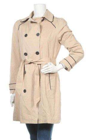 Дамски шлифер Naf Naf, Размер S, Цвят Бежов, 53% полиестер, 36% памук, 11% полиамид, Цена 34,27лв.