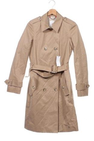Дамски шлифер S.Oliver, Размер XS, Цвят Бежов, 57% памук, 37% полиестер, 6% полиамид, Цена 98,02лв.