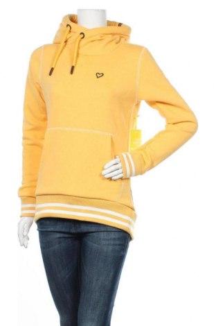 Дамски суичър Alife And Kickin, Размер M, Цвят Жълт, 50% памук, 50% полиестер, Цена 49,64лв.