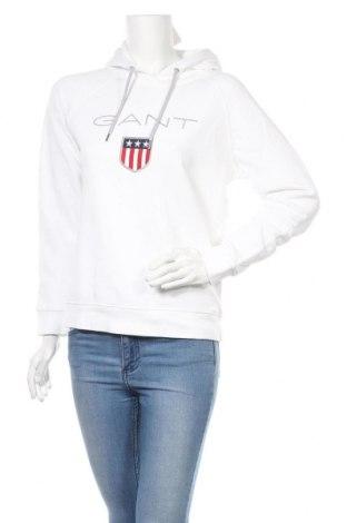 Дамски суичър Gant, Размер M, Цвят Бял, 87% памук, 13% полиестер, Цена 52,00лв.