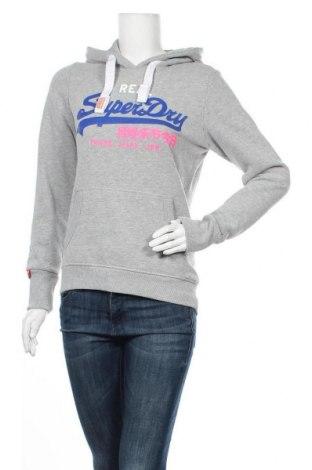 Дамски суичър Superdry, Размер S, Цвят Сив, 60% памук, 40% полиестер, Цена 67,32лв.
