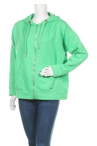 Дамски суичър Tom Tailor, Размер M, Цвят Зелен, 60% памук, 40% полиестер, Цена 69,00лв.