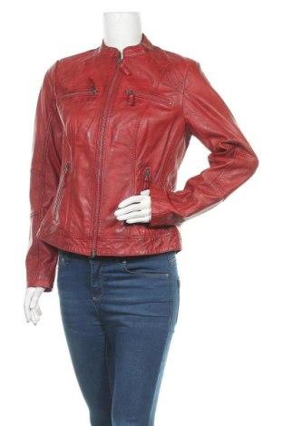 Дамско кожено яке 7 Eleven, Размер M, Цвят Червен, Естествена кожа, Цена 196,37лв.