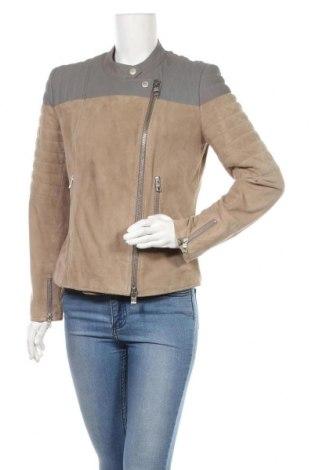 Дамско кожено яке Closed, Размер L, Цвят Бежов, Естествена кожа, естествен велур, Цена 119,25лв.