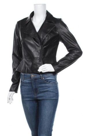 Γυναικείο δερμάτινο μπουφάν Comma,, Μέγεθος S, Χρώμα Μαύρο, Δερματίνη, Τιμή 59,83€
