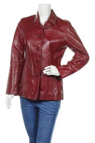 Дамско кожено яке Gipsy By Mauritius, Размер M, Цвят Червен, Естествена кожа, Цена 48,84лв.