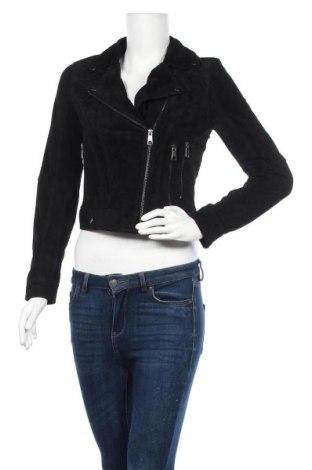 Γυναικείο δερμάτινο μπουφάν Vero Moda, Μέγεθος S, Χρώμα Μαύρο, Φυσικό σουέτ, Τιμή 52,27€