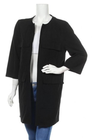 Дамско палто H&M, Размер XL, Цвят Черен, 88% полиестер, 12% еластан, Цена 36,00лв.