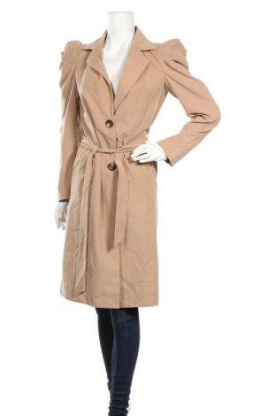 Γυναικείο παλτό Jacqueline De Yong, Μέγεθος S, Χρώμα  Μπέζ, 90% πολυεστέρας, 10% πολυαμίδη, Τιμή 22,40€