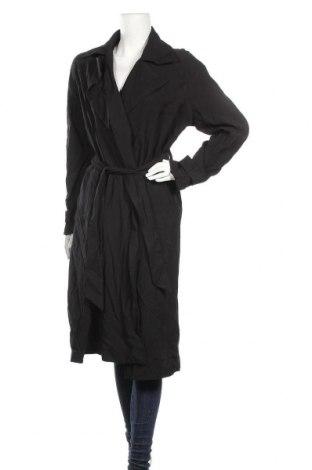 Дамско палто Kiomi, Размер M, Цвят Черен, 92% вискоза, 8% полиестер, Цена 36,48лв.