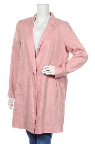 Дамско палто Marks & Spencer, Размер XL, Цвят Розов, Лен, Цена 36,75лв.