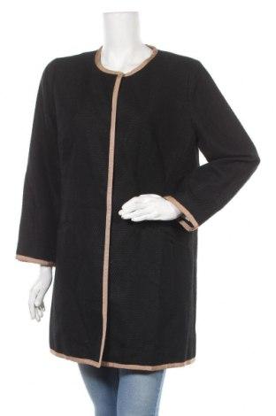 Дамско палто Talbots, Размер L, Цвят Черен, 82% памук, 18% полиестер, Цена 48,88лв.