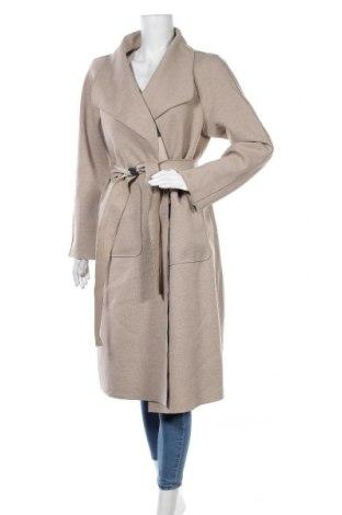 Γυναικείο παλτό Vila, Μέγεθος M, Χρώμα  Μπέζ, 80% πολυεστέρας, 10%ακρυλικό, 10% βισκόζη, Τιμή 26,61€