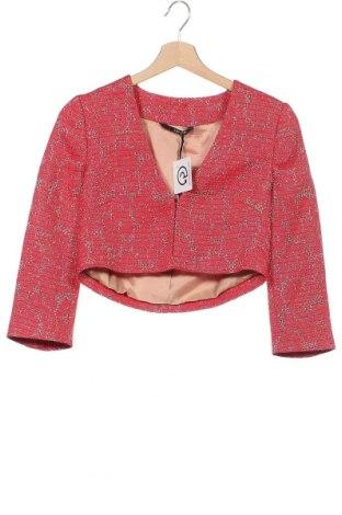 Γυναικείο σακάκι Liu Jo, Μέγεθος XXS, Χρώμα Κόκκινο, 44% βαμβάκι, 42% πολυεστέρας, 12%ακρυλικό, 2% πολυαμίδη, Τιμή 92,40€