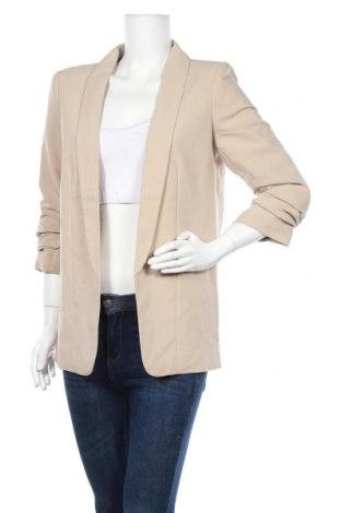 Γυναικείο σακάκι Pieces, Μέγεθος M, Χρώμα  Μπέζ, 79% πολυεστέρας, 16% βισκόζη, 5% ελαστάνη, Τιμή 21,34€