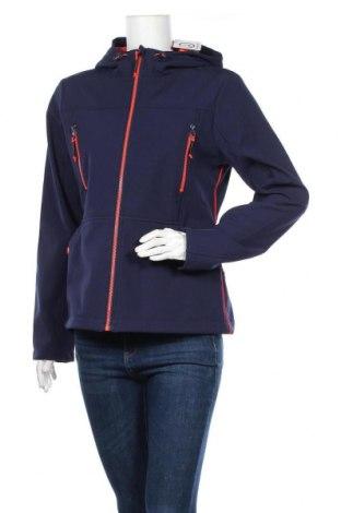 Дамско спортно яке Tom Tailor, Размер L, Цвят Син, 98% полиестер, 2% еластан, Цена 84,50лв.