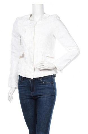 Γυναικείο μπουφάν Tom Tailor, Μέγεθος S, Χρώμα Λευκό, 55% λινό, 45% βισκόζη, Τιμή 41,81€