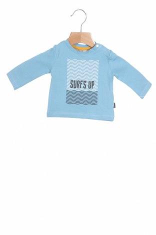 Детска блуза Noppies, Размер 1-2m/ 50-56 см, Цвят Син, 95% памук, 5% еластан, Цена 5,78лв.