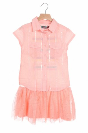 Dětské šaty  Desigual, Velikost 6-7y/ 122-128 cm, Barva Růžová, Bavlna, polyester, kovové nitě, Cena  1048,00Kč