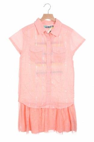 Παιδικό φόρεμα Desigual, Μέγεθος 12-13y/ 158-164 εκ., Χρώμα Ρόζ , Βαμβάκι, πολυεστέρας, μεταλλικά νήματα, Τιμή 10,21€