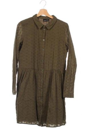 Детска рокля LMTD, Размер 14-15y/ 168-170 см, Цвят Зелен, Памук, Цена 16,56лв.