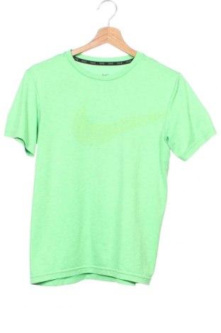Dětské tričko  Nike, Velikost 11-12y/ 152-158 cm, Barva Zelená, Polyester, Cena  333,00Kč