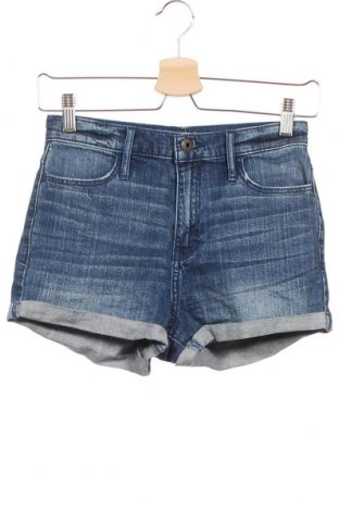Детски къс панталон Abercrombie Kids, Размер 15-18y/ 170-176 см, Цвят Син, 99% памук, 1% еластан, Цена 30,35лв.