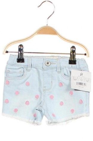 Παιδικό κοντό παντελόνι Oshkosh, Μέγεθος 18-24m/ 86-98 εκ., Χρώμα Μπλέ, 98% βαμβάκι, 2% ελαστάνη, Τιμή 10,87€