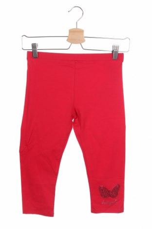 Dětské legíny  Desigual, Velikost 10-11y/ 146-152 cm, Barva Červená, 95% bavlna, 5% elastan, Cena  518,00Kč