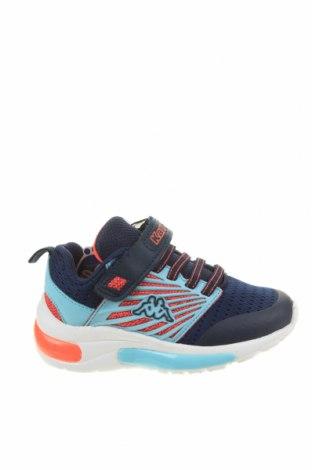 Детски обувки Kappa, Размер 25, Цвят Син, Текстил, еко кожа, Цена 64,97лв.