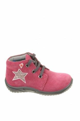 Детски обувки Richter, Размер 22, Цвят Розов, Естествен велур, Цена 66,75лв.