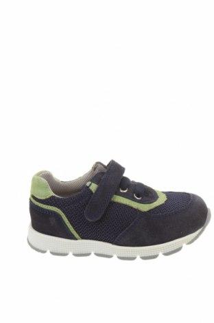Детски обувки Richter, Размер 26, Цвят Син, Естествен велур, текстил, Цена 59,25лв.