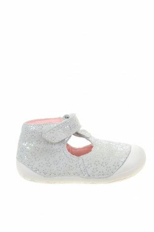 Детски обувки Richter, Размер 22, Цвят Сив, Естествен велур, Цена 59,25лв.