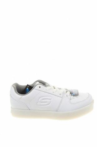 Детски обувки Skechers, Размер 30, Цвят Бял, Естествена кожа, еко кожа, Цена 81,75лв.