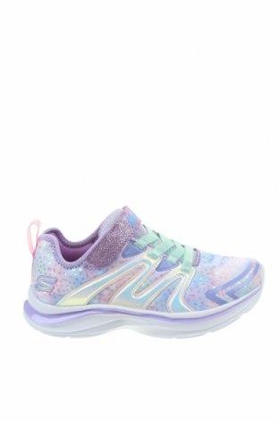 Детски обувки Skechers, Размер 28, Цвят Лилав, Текстил, еко кожа, Цена 66,75лв.