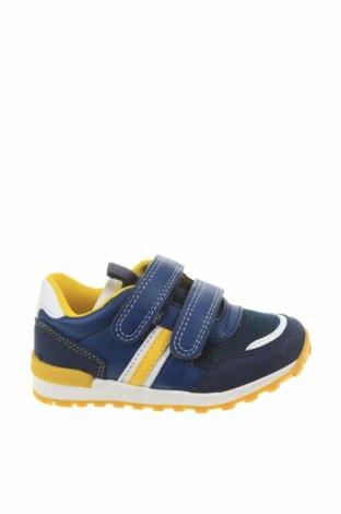 Παιδικά παπούτσια Vertbaudet, Μέγεθος 23, Χρώμα Μπλέ, Φυσικό σουέτ, κλωστοϋφαντουργικά προϊόντα, δερματίνη, Τιμή 38,21€