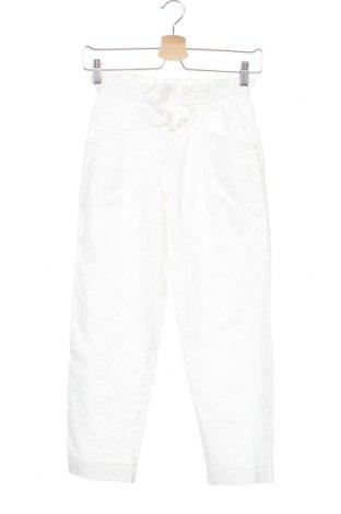 Dětské kalhoty  Zara, Velikost 12-13y/ 158-164 cm, Barva Bílá, 60% bavlna, 40% len, Cena  424,00Kč