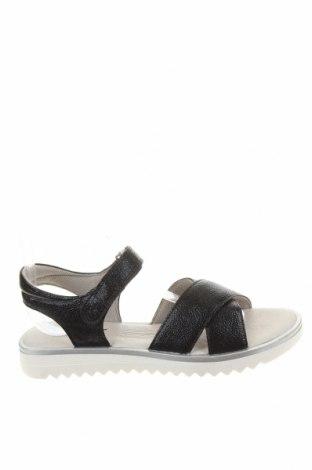 Детски сандали Richter, Размер 37, Цвят Черен, Еко кожа, Цена 35,77лв.