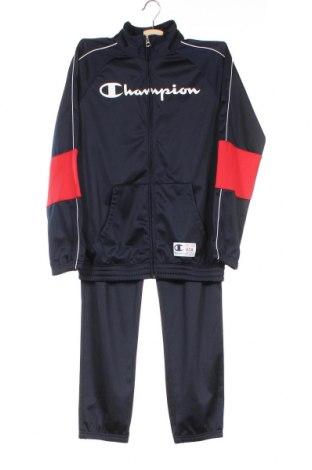 Детски спортен комплект Champion, Размер 11-12y/ 152-158 см, Цвят Син, Полиестер, Цена 61,32лв.