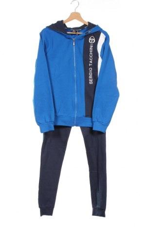 Детски спортен комплект Sergio Tacchini, Размер 15-18y/ 170-176 см, Цвят Син, 95% памук, 5% еластан, Цена 78,84лв.