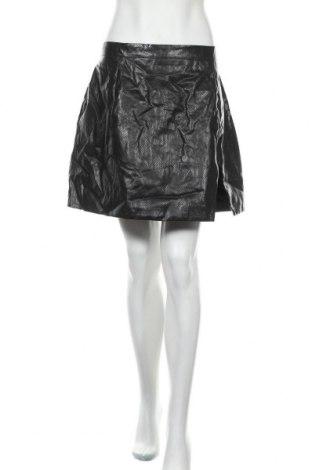 Δερμάτινη φούστα City Chic, Μέγεθος XL, Χρώμα Μαύρο, Δερματίνη, Τιμή 19,74€