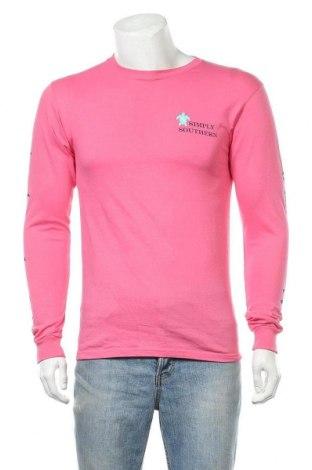 Ανδρική μπλούζα Simply Southern, Μέγεθος S, Χρώμα Ρόζ , Βαμβάκι, Τιμή 13,61€
