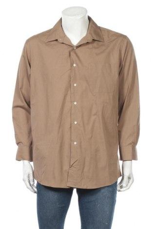 Мъжка риза Alexander Julian, Размер L, Цвят Кафяв, 60% памук, 40% полиамид, Цена 6,05лв.
