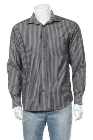 Мъжка риза Angelo Litrico, Размер M, Цвят Сив, Памук, Цена 6,98лв.