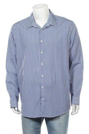 Мъжка риза Angelo Litrico, Размер XXL, Цвят Син, Памук, Цена 6,01лв.