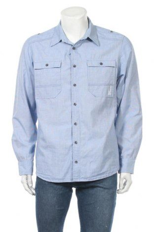 Мъжка риза Angelo Litrico, Размер XL, Цвят Син, Памук, Цена 10,40лв.